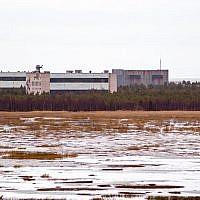 A picture taken on November 9, 2011, shows buildings at a military base in the small town of Nyonoska in Arkhangelsk region of Russia. (AFP)