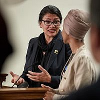 Rep. Rashida Tlaib speaks during a press conference on August 19, 2019 in St. Paul, Minnesota. (Adam Bettcher/Getty Image North America/AFP)