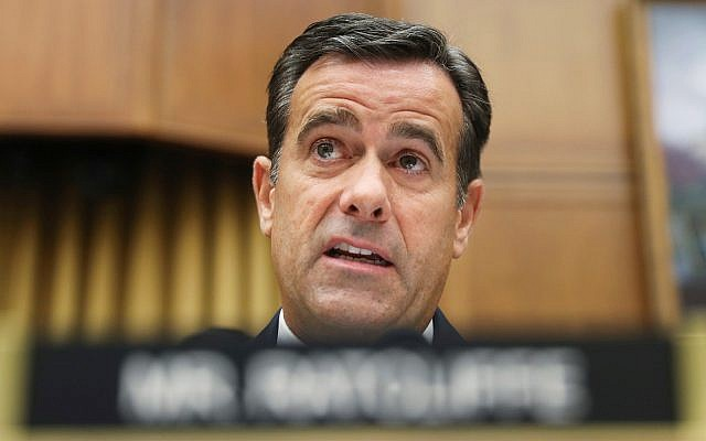 Rep. John Ratcliffe, R-Texas., questions former special counsel Robert Mueller as he testifies before the House Intelligence Committee hearing on his report on Russian election interference, on Capitol Hill in Washington, July 24, 2019 (AP Photo/Andrew Harnik, File)