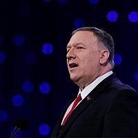US Secretary of State Mike Pompeo speaks at the 101st National Convention of The American Legion in Indianapolis, August 27, 2019. (AP Photo/Michael Conroy)