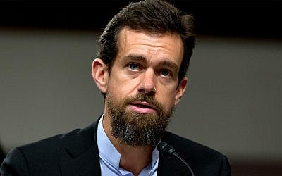 Twitter CEO Jack Dorsey testifies before the Senate Intelligence Committee hearing on 'Foreign Influence Operations and Their Use of Social Media Platforms' on Capitol Hill, Sept. 5, 2018, in Washington. (AP Photo/Jose Luis Magana)