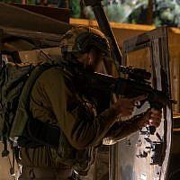 Troops secure communities in Gaza border area, August 1, 2019 (Israel Defense Forces)