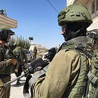 IDF soldiers during searches in the West Bank for the terrorists who killed Dvir Sorek, on August 9, 2019. (Israel Defense Forces)
