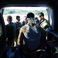 One of the suspects in the murder of Dvir Sorek after being arrested by the Border Police and IDF in the West Bank on August 10, 2019. (Israel Defense Forces)