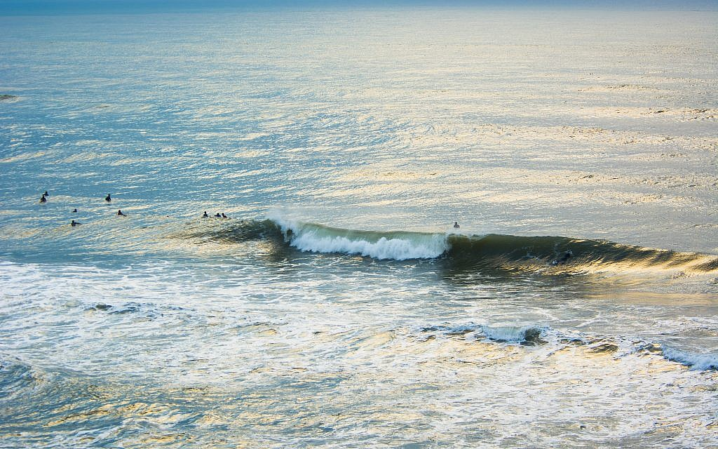 'Winter Surfing II,' taken at Tel Baruch Beach, Tel Aviv, Israel (Courtesy Tal Paz-Fridman)