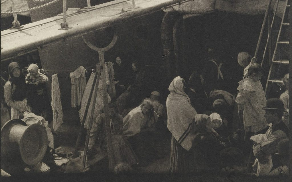 Detail from The Steerage, 1907 Alfred Stieglitz, American, 1864–1946. (Courtesy of The Israel Museum)