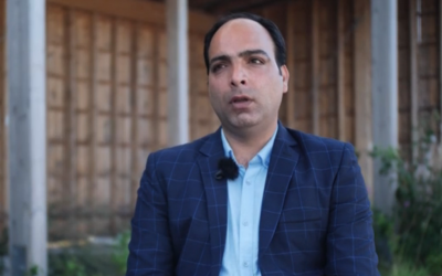 Iranian jorunalist Amir Tohid Fazel speaks to Sweden's SVT (video screenshot)