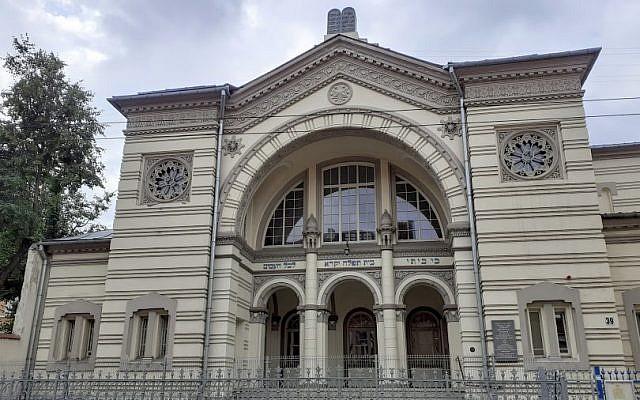 The Choral Synagogue in Vilnius, July 2019 (Raphael Ahren/TOI)