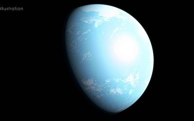 This illustration shows one interpretation of what new planet GJ 357 d may be like. (NASA's Goddard Space Flight Center/Chris Smith)