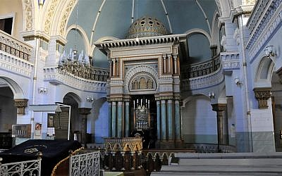 The interior of the Choral Synagogue in Vilnius, Lithuania (Wikimedia Commons via JTA)
