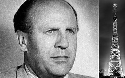 Oskar Schindler helped prepare the false-flag attack at the Gleiwitz radio tower prior to Germany's invasion of Poland on September 1, 1939 (public domain)