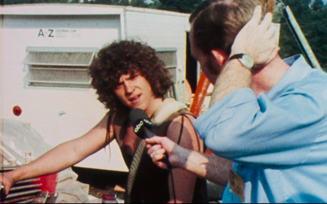 The 'face' of Woodstock, Jewish promoter Michael Lang. (Screenshot)
