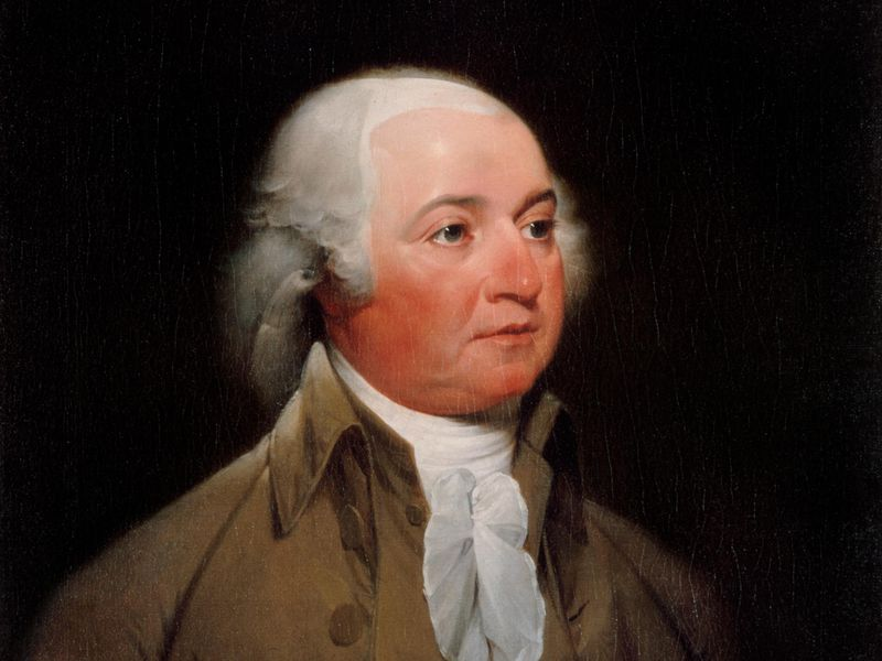 President John Adams as painted by John Trumbull, circa 1792 (public domain)