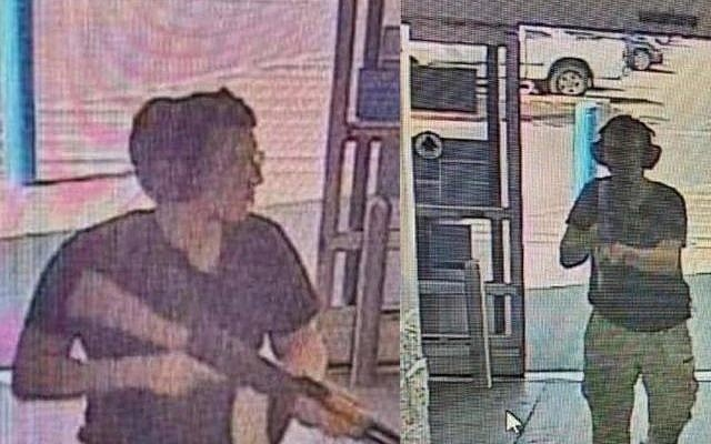 Security cam footage shows gunman entering Walmart in El Paso, Texas, August 3, 2019 (screenshot)