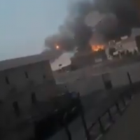 Explosions at an arms depot of a Shiite militia group in Iraq, August 20, 2019 (video screenshot)