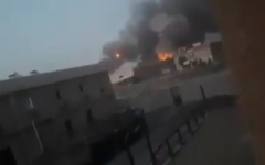 Explosions at an arms depot of a Shiite militia group in Iraq, August 20, 2019. (video screenshot)