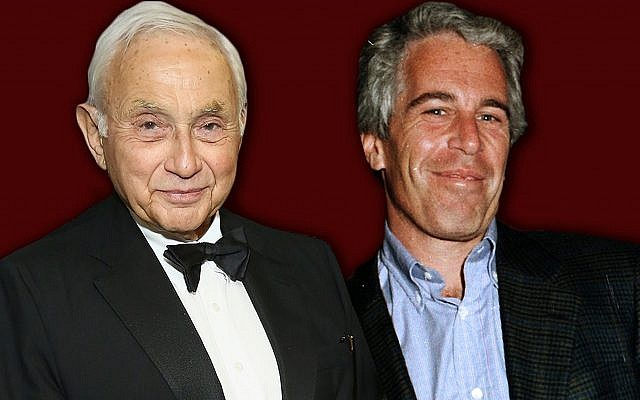 Leslie Wexner, left, and Jeffrey Epstein were close for years. Now Epstein's scandal is dogging the billionaire Jewish philanthropist. (Laura E. Adkins/Getty Images via JTA)