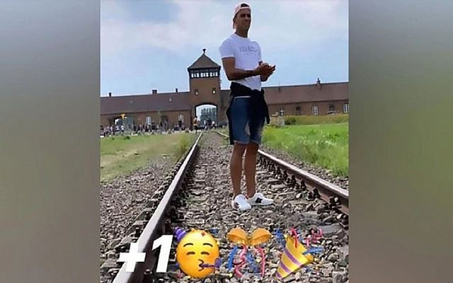 A screenshot of the deleted Instagram post by Rodrigo Zalazar. (Via JTA)