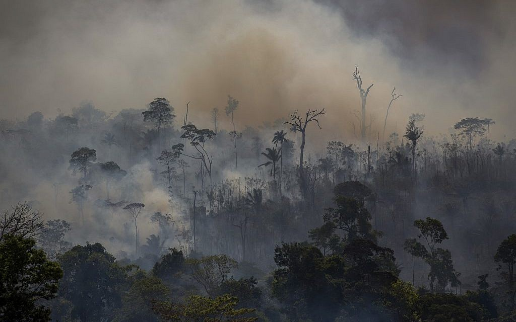 Israel sends group to help Brazil battle Amazon fires