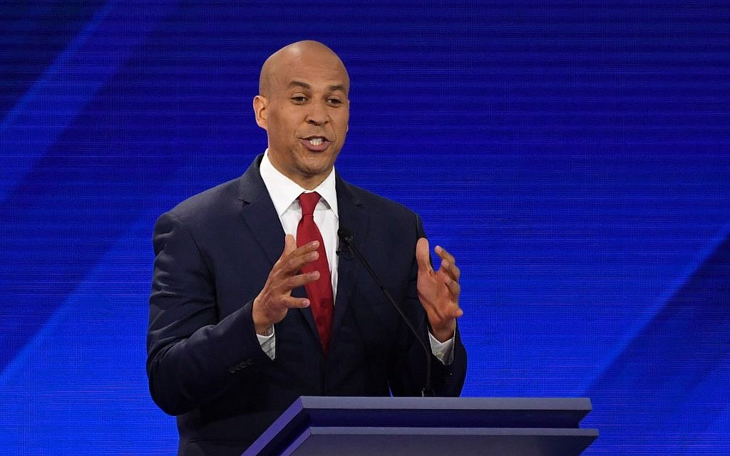Cory Booker thanks God in Hebrew after Democratic debate