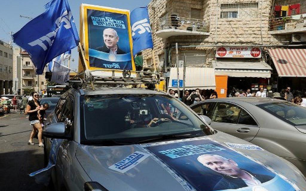 Final polls have Netanyahu edging toward majority right-wing bloc