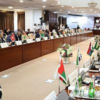 Foreign ministers of the Organisation of Islamic Cooperation meet in the Saudi capital Riyadh on September 15, 2019. (AFP)