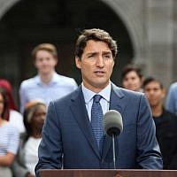 In this file photo taken on September 11, 2019 Liberal Party leader and Canada's Prime Minister Justin Trudeau speaks during a news conference at Rideau Hall in Ottawa   Dave Chan / AFP)