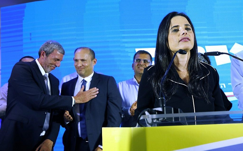 Shaked's Yamina faction dissolves an hour after polls close