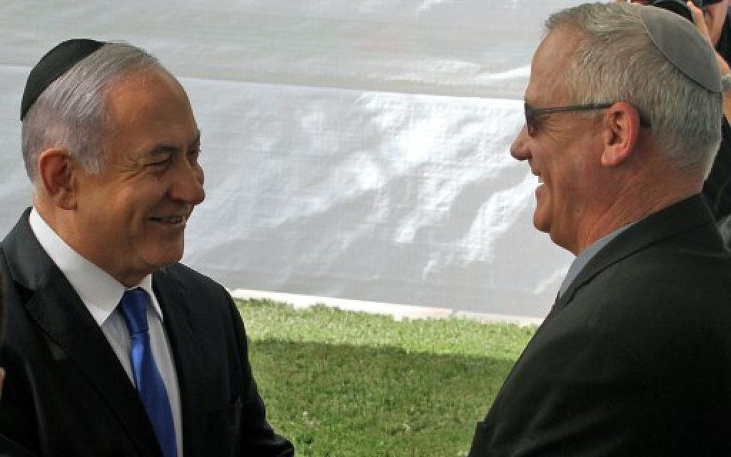 Netanyahu, Gantz make 'significant progress' in all-night coalition talks