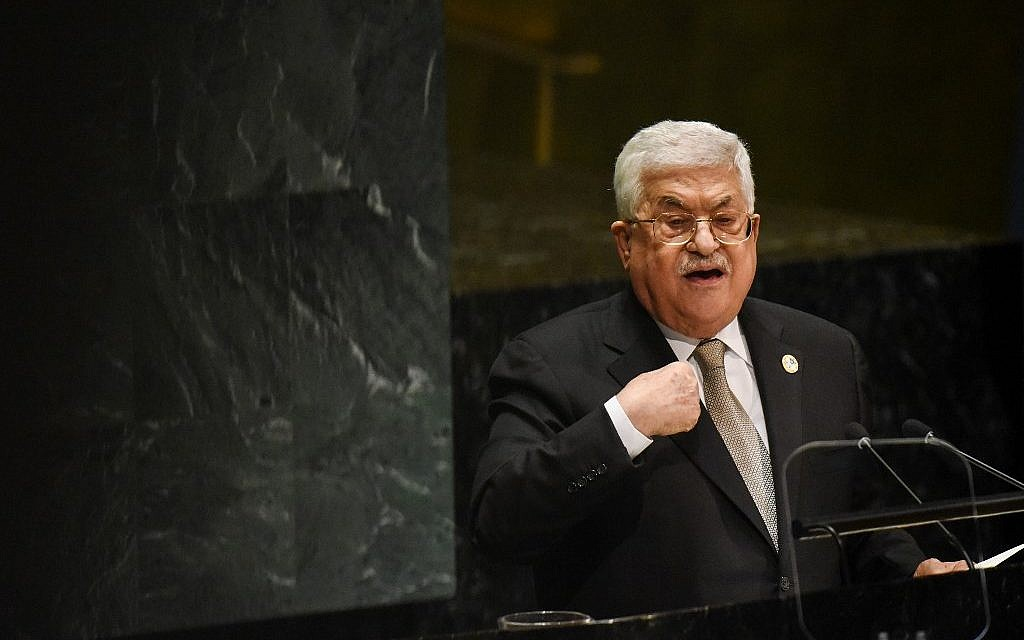 At UN, Abbas threatens to nix agreements with Israel if West Bank land annexed