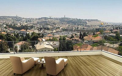 Overlooking old and new Jerusalem