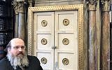 Rabbi Shaul Shimon Deutsch with the Krumbach Torah Ark. (Courtesy of Guernsey's)