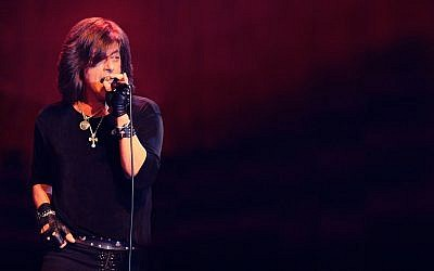 Joe Lynn Turner, former vocalist for Deep Purple, arrives in Israel for his 'Rock the Opera' shows on November 19, 2019 in Tel Aviv and November 20, 2019 in Haifa (Courtesy Live Nation Israel)