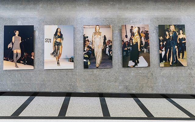 Fashion models and their muses at 'New York Fashion Rediscovered,' a new exhibit created by two Israelis in New York City's Time Square, just in time for 2019 Fashion Week (Courtesy ZAZ10TS)