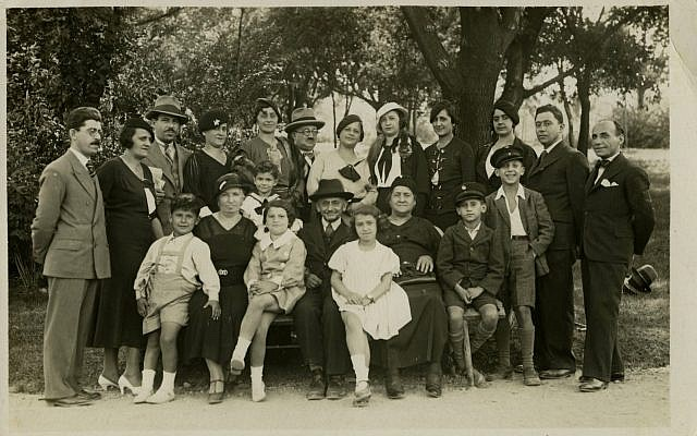 The Majer family from Belgrade, in a happy moment before the Second World War; 19 people in the photograph were murdered in the Holocaust (Courtesy Yad Vashem Photo Archive)