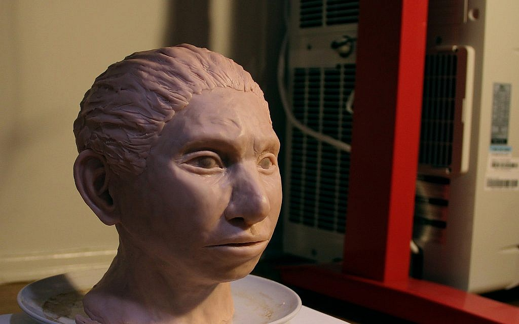 3-D printed reconstruction of a female Denisovan. (Maayan Harel)