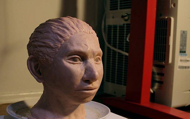 3-D printed reconstruction of a female Denisovan. (Maayan Harel)