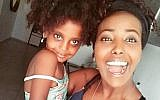 Sefy Bililin and her three-year old daughter Pri'el. (Facebook)
