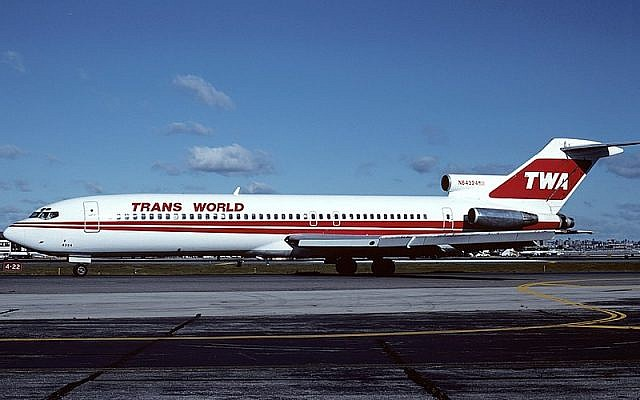 A TWA Boeing 727-200 identical to the aircraft involved in the 1985 Hezbollah hijacking of TWA Flight 847. (Felix Goetting/Wikipedia)