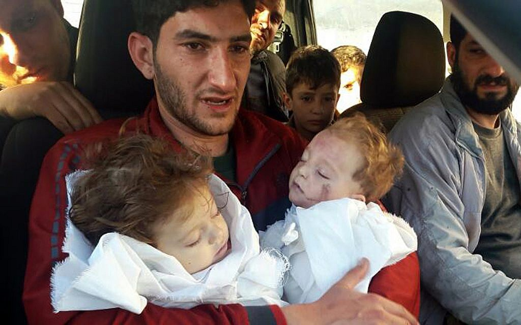 Syrian father who lost twins to poison gas attack uprooted again
