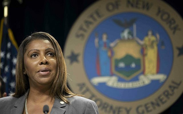 In this photo from June 11, 2019, New York Attorney General Letitia James speaks during a news conference in New York. (AP Photo/Mary Altaffer, File)