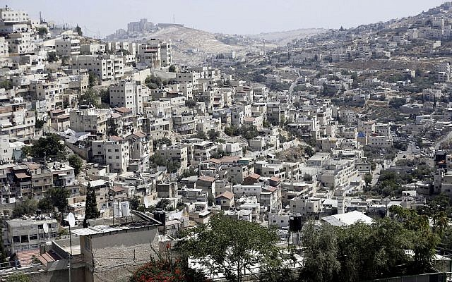 Th East Jerusalem neighborhood of Silwan on September 9, 2019. (AP/Mahmoud Illean)