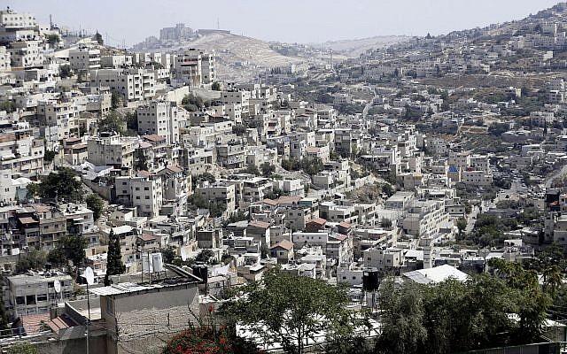 The East Jerusalem neighborhood of Silwan on September 9, 2019. (AP/Mahmoud Illean)
