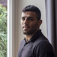 Iranian judoka Saeid Mollaei at an undisclosed southern city of Germany, September 12, 2019. (AP Photo/Michael Probst)
