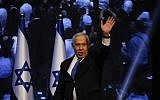 Prime Minister Benjamin Netanyahu addressees his supporters at party headquarters after elections in Tel Aviv, Israel, September 18, 2019. (Ariel Schalit/AP)