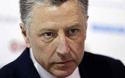 Then US special representative to Ukraine Kurt Volker in Kiev Ukraine
