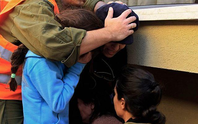 Illustrative photo of a 2009 missile strike in Ashkelon. (AP Photo/Tsafrir Abayov)