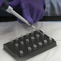 Illustrative photo of mitochondrial DNA testing at the State of California Department of Justice Jan Bashinski DNA Laboratory in Richmond, California, February 17, 2012. (AP Photo/Jeff Chiu)