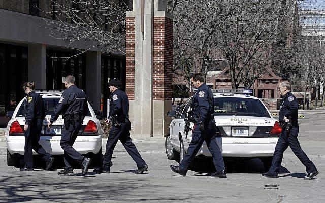 Illustrative: Indianapolis Metropolitan Police officers, March 19, 2013. (Michael Conroy/AP)