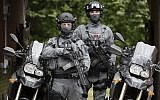 Illustrative: Members of the Counter Terrorism Specialist Firearms Officers pose during a media opportunity in London, August 3, 2016. (Kirsty Wigglesworth/AP)